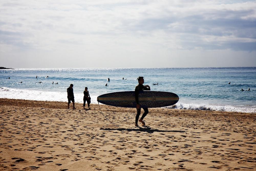 Manley beach surfer
