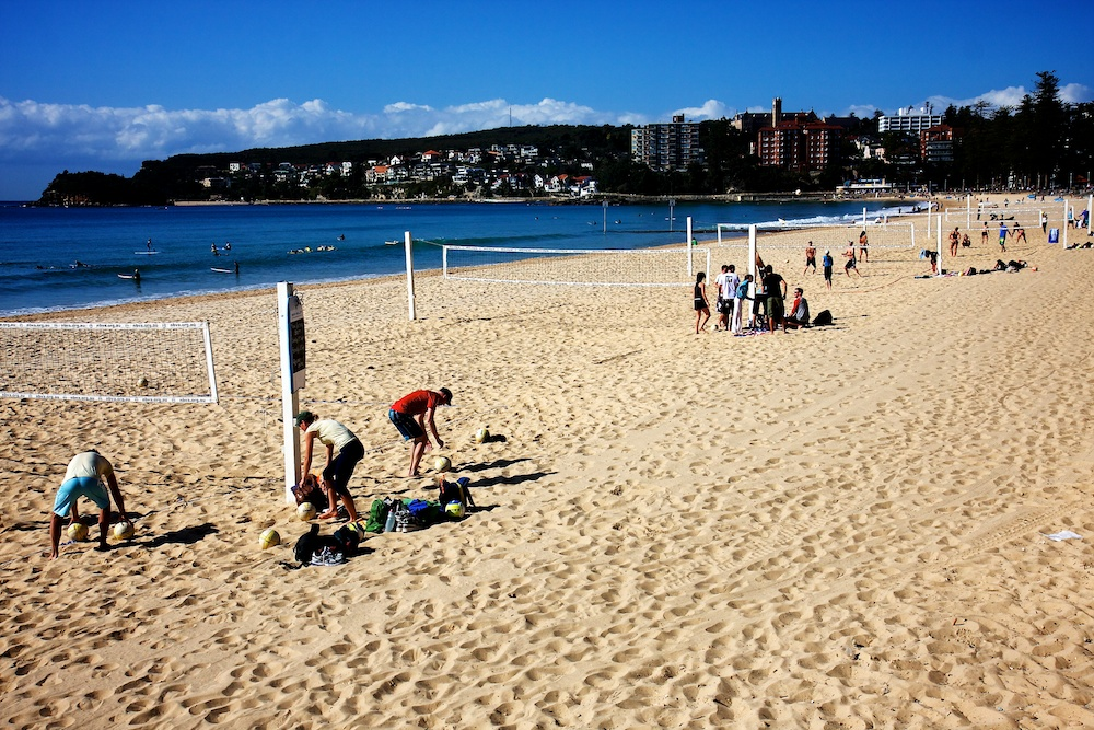 Manly beach volleyball