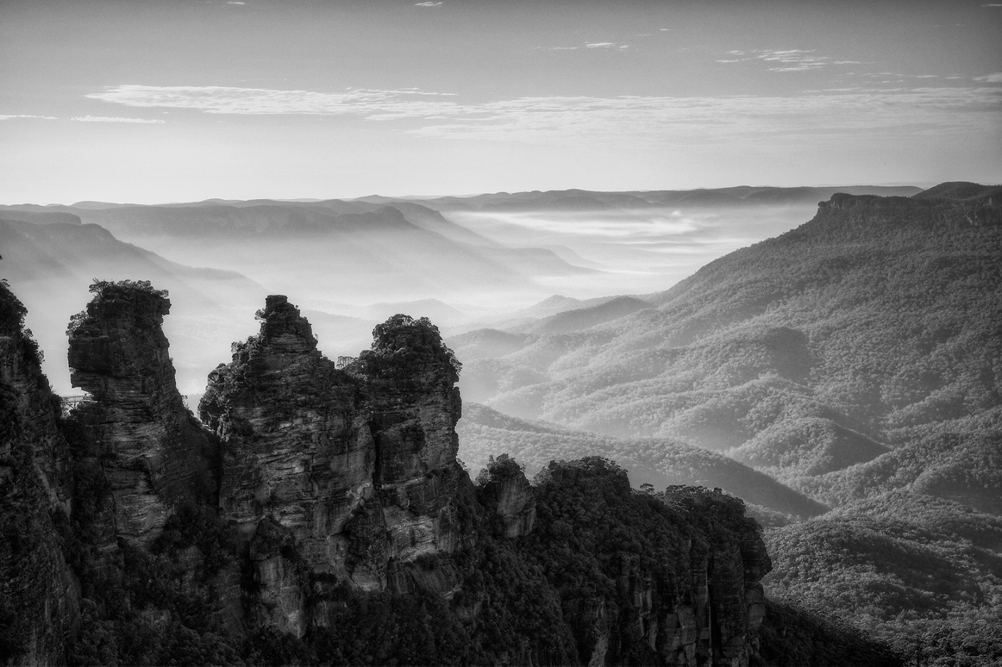 The Three Sisters atDawn
